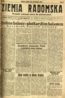 Ziemia Radomska, 1932, R. 5, nr 86