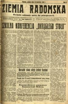 Ziemia Radomska, 1932, R. 5, nr 87