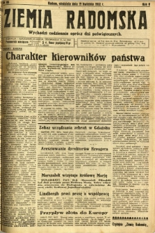 Ziemia Radomska, 1932, R. 5, nr 88