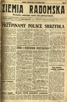 Ziemia Radomska, 1932, R. 5, nr 89