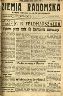 Ziemia Radomska, 1932, R. 5, nr 91